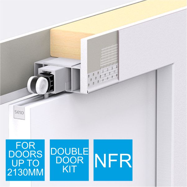 Selo Enigma Double Concealed Frame Pocket Door